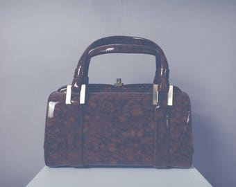 Marbled Patent Mini Doctor Bag
