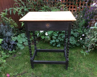 Maintenant ** vendu ** Table Console Vintage Oak Hall