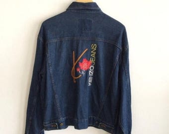 BIG SALE Vintage Kenzo Jeans Denim Jacket