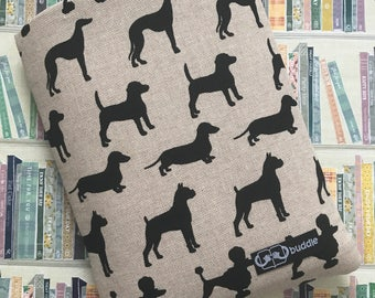 Buddle, small, padded book cover/sleeve (dogs)