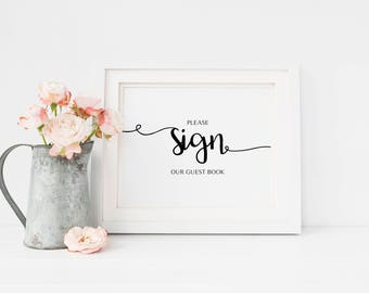 Printable Wedding Guest Book Sign, Wedding Guest Book Sign, Wedding Guest Book, Wedding, Guest Book Printable, Please Sign Our Guest Book