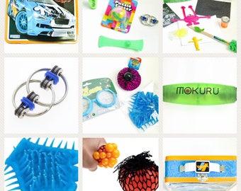 Travel Sensory & Fidget Toys Set ~ Hotwheel Tin Box