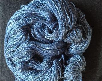 Hand spun, hand dyed, homegrown yarn
