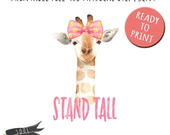 Stand Tall Giraffe- INSTANT DOWNLOAD - PDF Printable