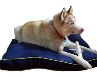 Personalized indoor/outdoor dog bed