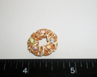 Dollhouse Miniature Handcrafted Braided Easter Egg Bread Ring Dessert Cake Doll Food ~ 3/4 inches - 1443