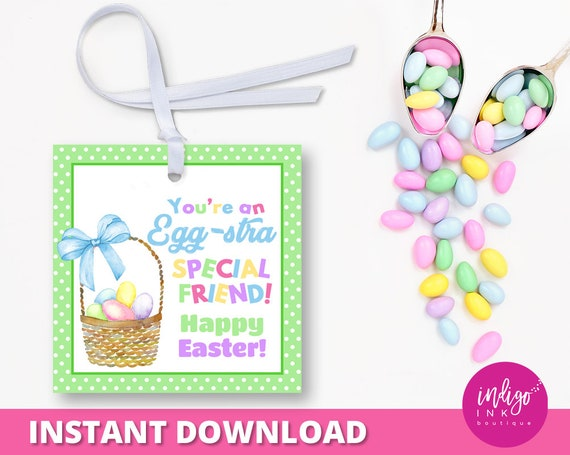 Easter school treat tag for kids easter favor tags easter tag il570xn negle Image collections