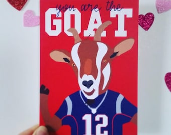 Tom Brady, Patriots: You Are the GOAT- Greeting Card