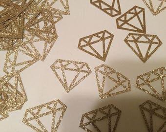 Champagne glitter diamond confetti, wedding decor, dessert table confetti, engagement decor, bridal shower decor