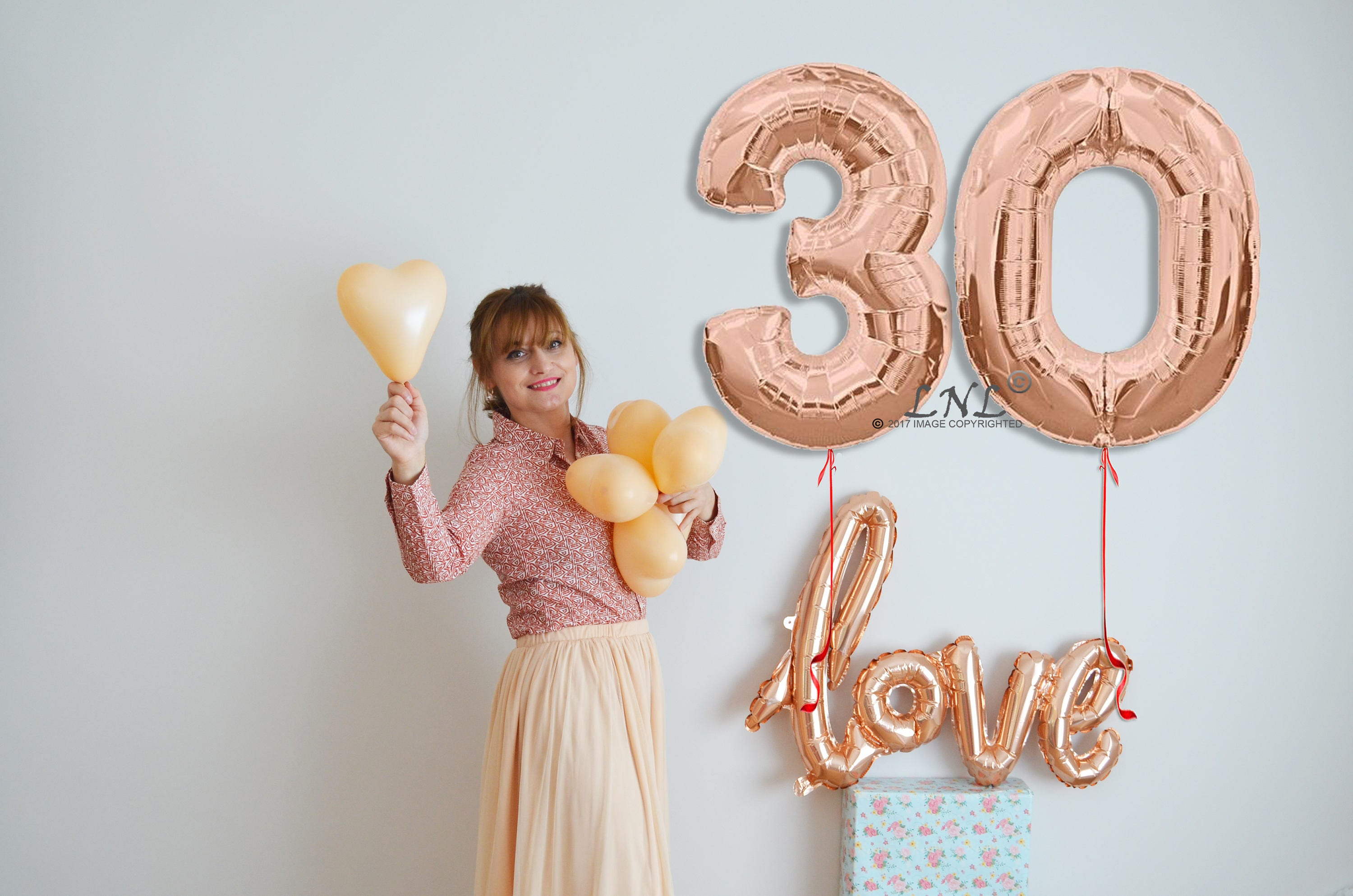 Rose Gold Number Balloons Age Number Party Custom