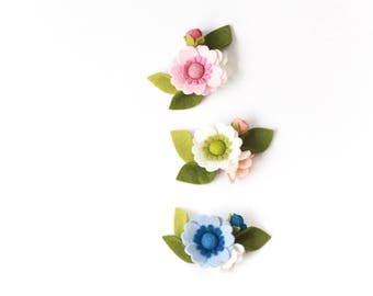 Felt Flower Headband, Felt Flower Crown Headband, Baby Headband, Newborn Photo Props, Baby Shower Gift, Flower Crown