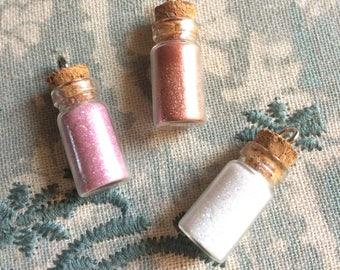 Glitter Bottle Charms