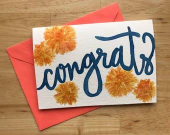 Congrats! - Watercolor Card