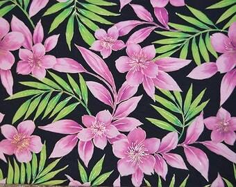 Hawaiian Flower 4 Way StretchFabric