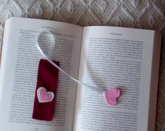 looking forward to reading bookmark rectangle with two hearts