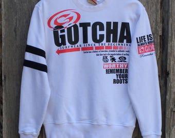Vintage!!! Rare gotcha surf spell out big logo sweatshirt jumper