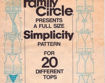 Summer Sale Family Circle presents a full size Simplicity Pattern for 20 Different Tops