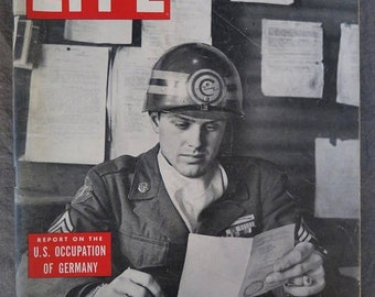 Life Magazine February 10, 1947 Graziano. The Capone Era, Grace Moore, Churchill, Occupied Germany, Japenese Sumo