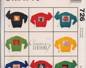 McCall's Crafts 726 Creative Clothing Appliques