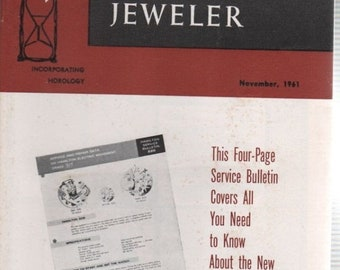 American Horologist and Jeweler 1961 Vol.28 No.11 BOOK 60 Pages