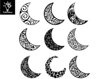Moon Temporary Tattoo Moon Tattoo Moon Fake Tattoo Crescent Moon Tattoo Sailor Moon Tattoo New Moon Tattoo Recent Moon Tattoo Small Tattoo