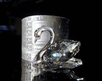 Swarovski Silver Crystal ~ Small Swan~Stunning ! Swarovski Vintage-Crystal Swan-Max Shreck-Crystal Collectibles-Vintage Swans-Fine Crystal-