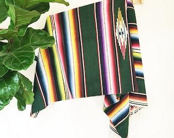 Adriana | Multicolor | Vintage Mexican Serape Blanket