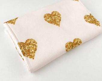 Gold Hearts Burp Cloth, Valentine Burp Cloth, Burp cloths, baby burp cloth, burp rags, baby girl burp cloth, baby girl gift