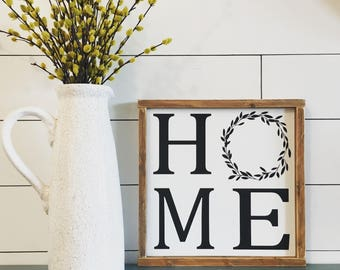 Home Sign, Farmhouse Decor, Handmade Sign, Rustic, Home