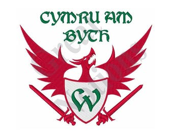 Welsh Motto - Machine Embroidery Design