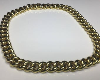 "Estate 18K Yellow Gold Nicolas Cola Designer 18"" Long Chain 60 Grams"