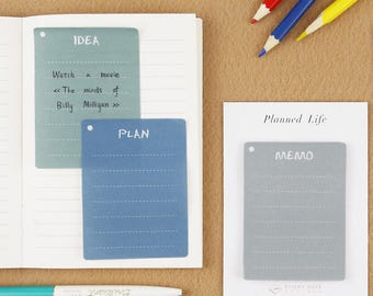 Planned Life Post It notes | Useful |Lined Sticky Notes | Memo pads | Memo Notes
