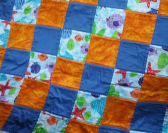 Bright Fishy Toddler Quilt
