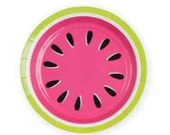 Watermelon Party Plates / Twotti-Fruitti Party Plates / Tutti-Fruiti Plates