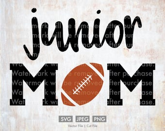 Junior Football Mom - Vector / Cut File, Silhouette, Cricut, SVG, PNG, JPEG, Clip Art, Stock Photo, Download, Sports, Team, Player, Games