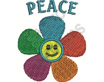 Peace Flower - Machine Embroidery Design
