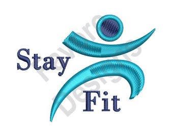 Stay Fit - Machine Embroidery Design