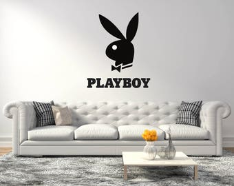 Playboy bunny logo  -  Wall Decal For Home living room or bedroom  Decoration