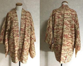 Japanese.old. kimono.free shipping.haori.coat.101