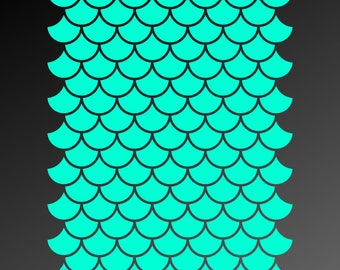 Mermaid SVG files, Mermaid scales SVG, Scalloped pattern SVG, Vector files for Cutting, Printing, Web Design projects and much more:)