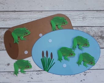 5 little speckled frogs song, Nursery song, Counting song, Counting rhyme, interactive resource, nursery or Reception class, numeracy, EYFS