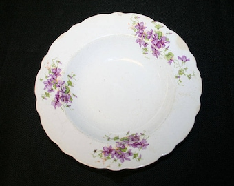 Keystone Purple Flower Bowl