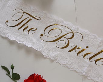 Personalized, Bridal Sash, Bachelorette Sash, Bride Sash, Wedding Sash, Bride to Be Sash, Custom Sash, Bride Sash, Bridal Sash, Sash, BRIDE