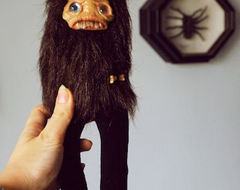 Creepy horror art doll gothic doll handmade monster doll