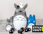 SAVE 25! Crochet Totoro Family Totoro Toy Gift My Neighbour Totoro Totoro Totoro Gift Plush Toy Amigurumi Doll Studio Ghibli
