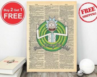 Peace Among Worlds -Rick N Morty Artwork-Rick n Morty Gift-Rick N Morty Series-Rick n Morty Dictionary-Dictionary Artwork-Rick N Morty Art