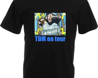 kids / adults t-shirt DAN TDM on TOUR, new design tshirt with sleeve print worldwide shipping dantdm