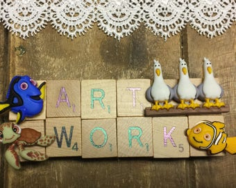 Finding Nemo Magnet, Art Work Magnet, Dori Manget, Refrigerator Magnet, Magnet