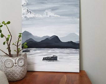 View  Original Acrylic on Stretched Canvas   3 Piece
