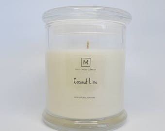COCONUT LIME | Soy Wax Candle | Glass Container